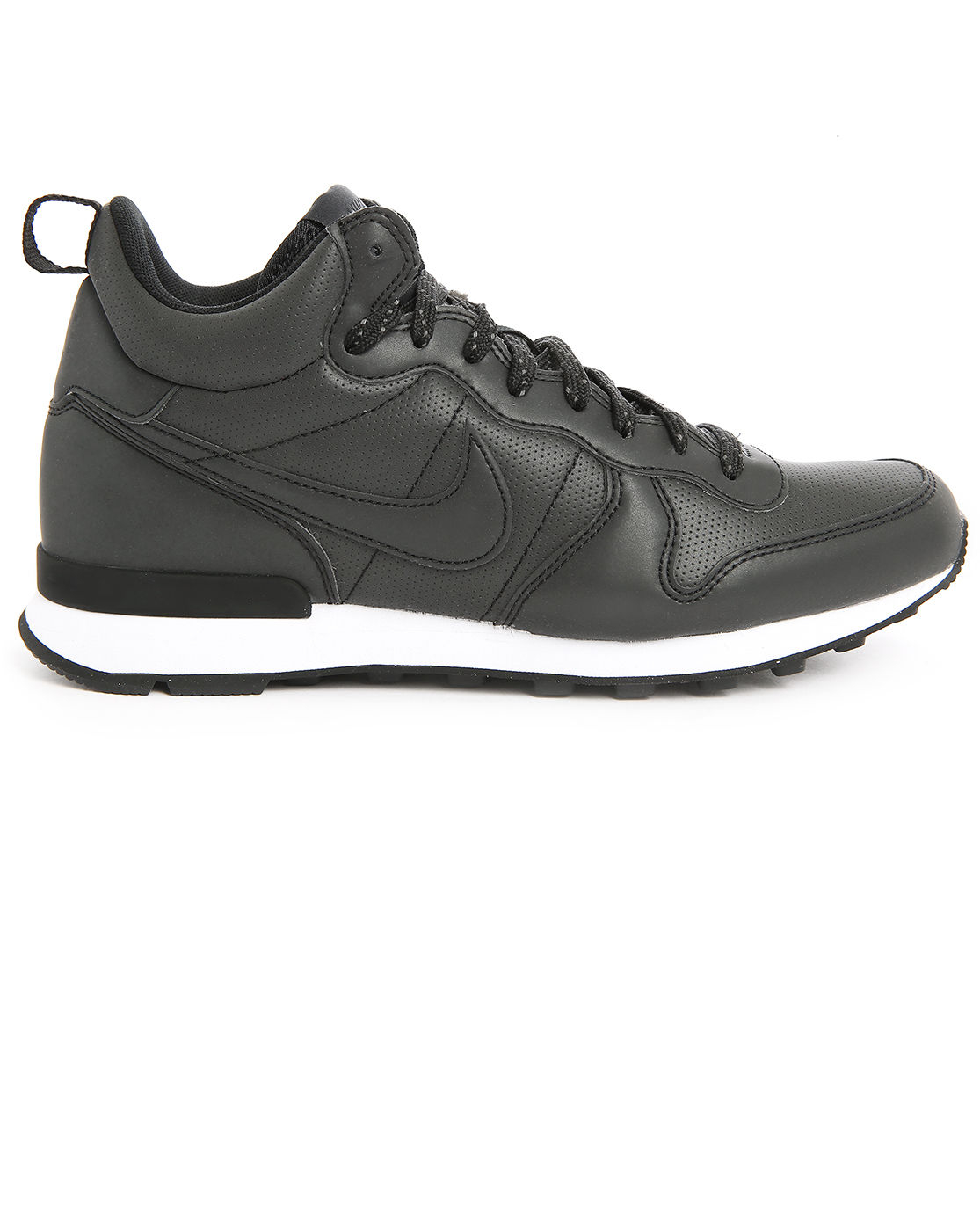 nike black leather mid top internationalist sneakers in. Black Bedroom Furniture Sets. Home Design Ideas