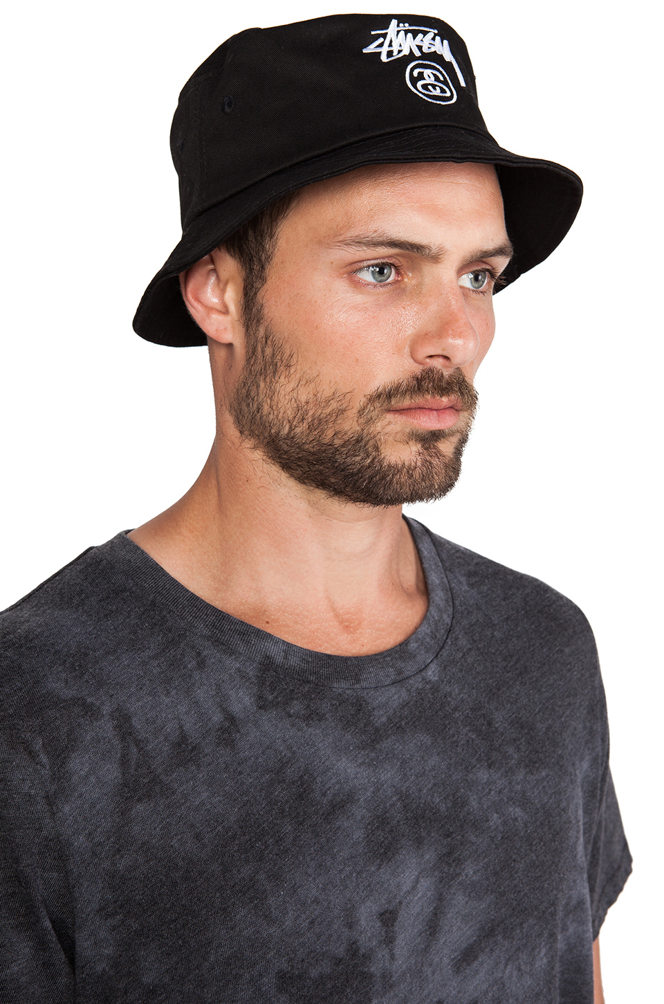 41721a96480 Lyst - Stussy Stock Lock Bucket Hat in Black for Men