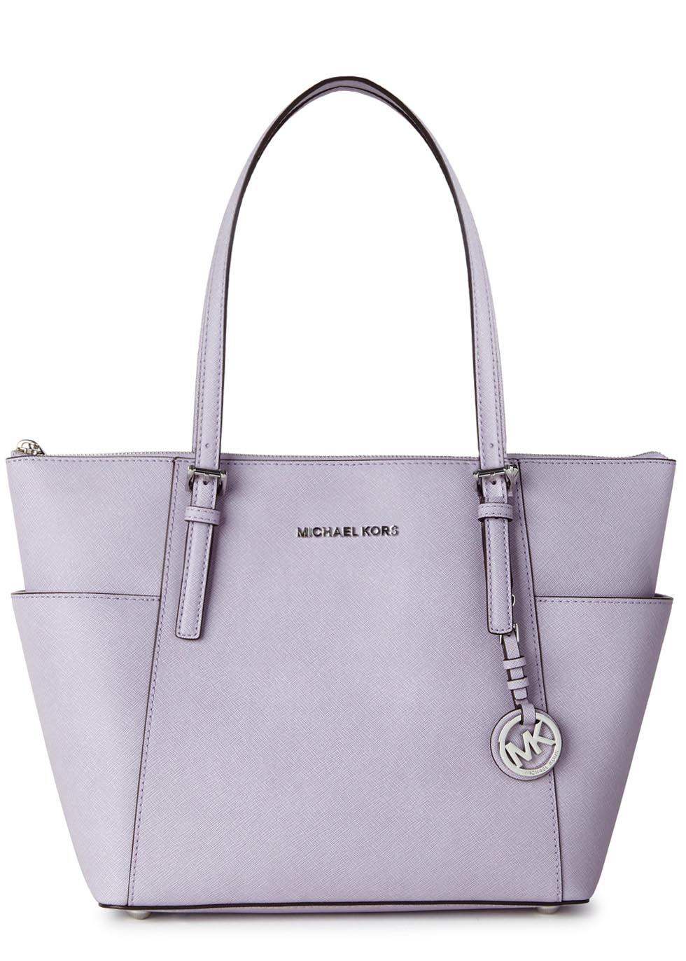 0ce4872c3b1a Michael Kors Jet Set Lilac Leather Tote in Purple - Lyst