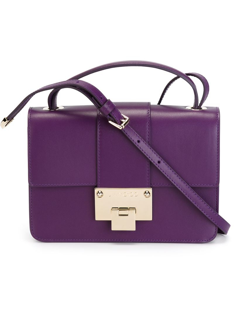Jimmy Choo Rebel Crossbody Bag In Purple Lyst