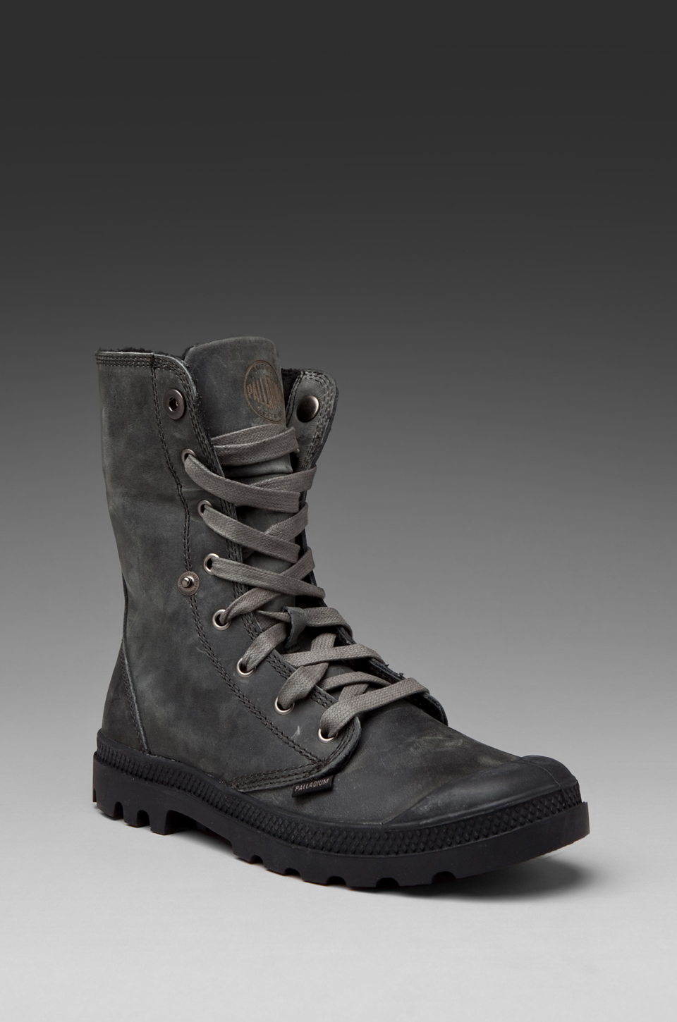 eaef9ab32e2 Palladium Leather/knit Baggy in Grey/black in Gray for Men - Lyst