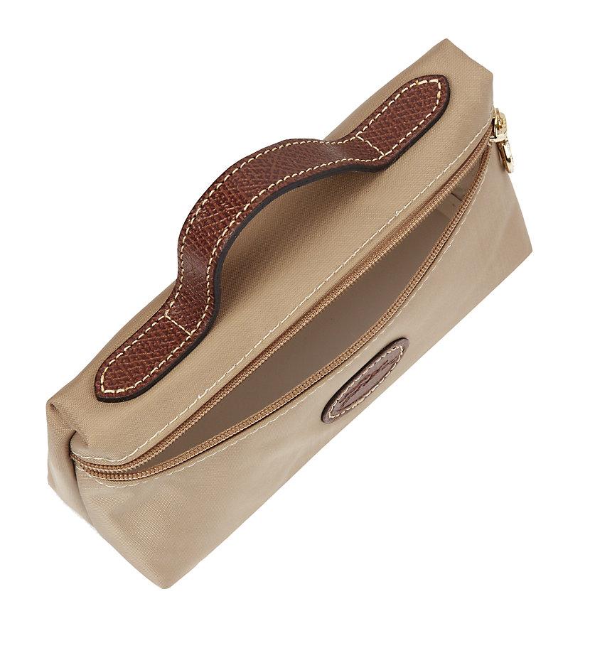 Popular Portable Longchamp Cosmetic Bags Beige. Beige Le Pliage Cosmetic Case