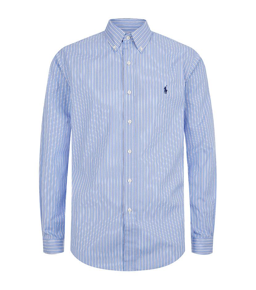 Polo ralph lauren custom fit multi stripe dress shirt in for Custom fit dress shirts