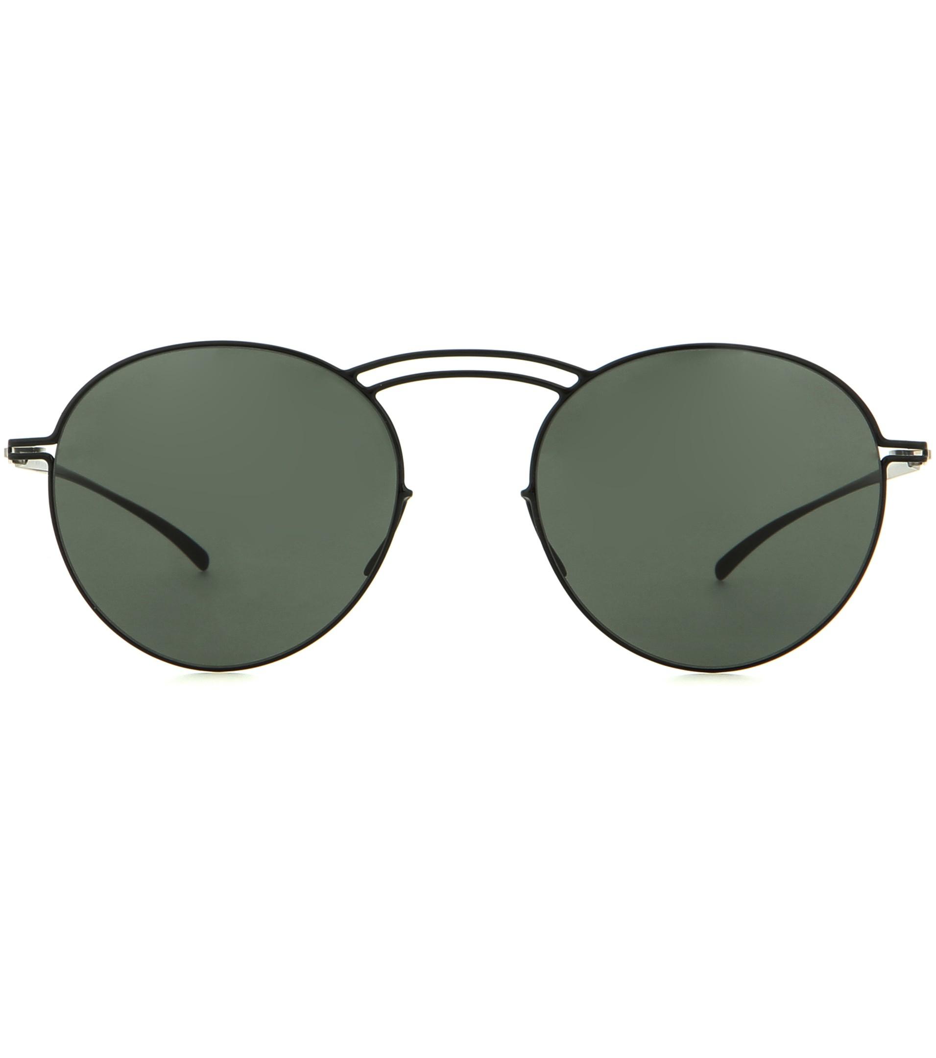 Mykita Round Sunglasses  mykita mmesse011 essential round sunglasses in black lyst