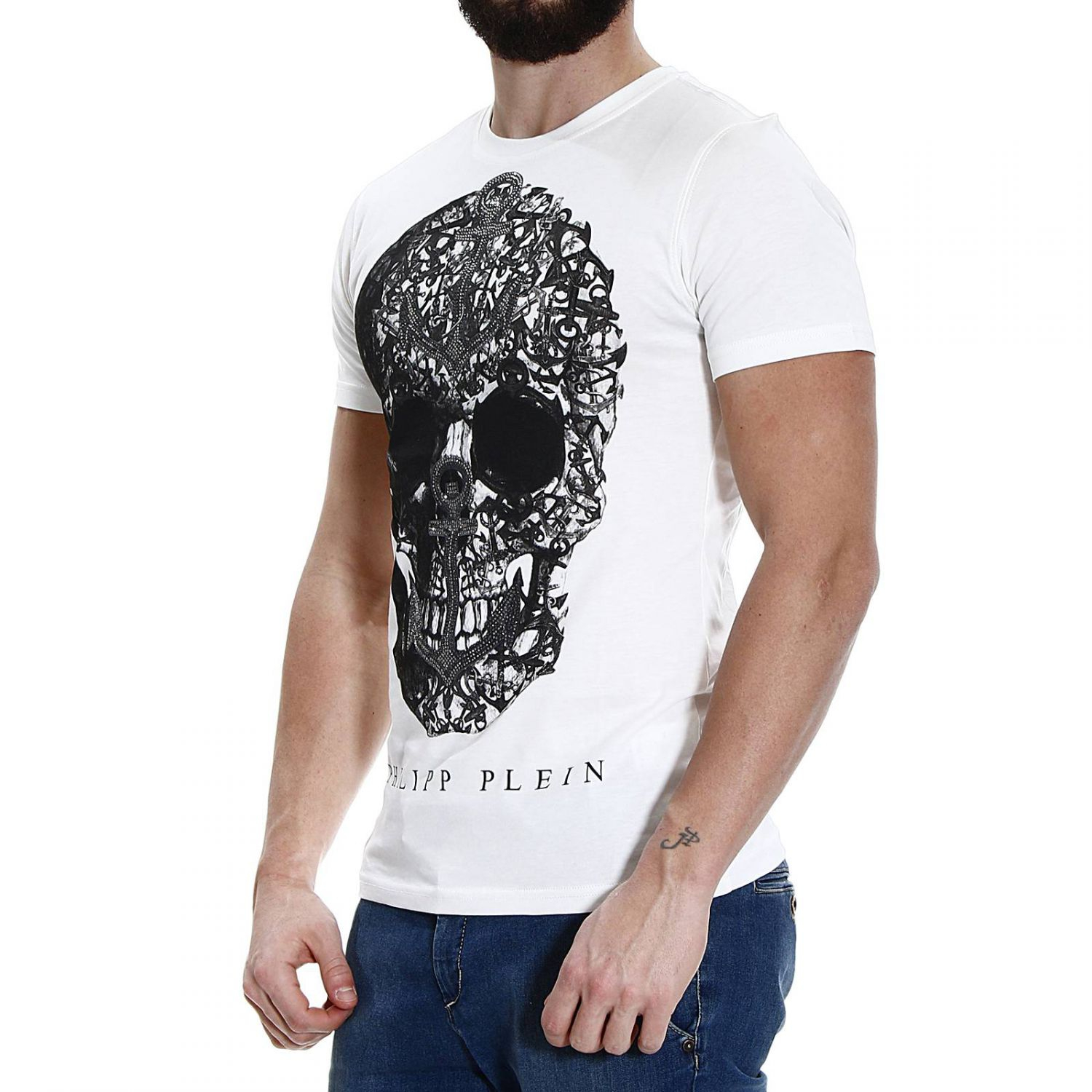 philipp plein t shirt in white for men lyst. Black Bedroom Furniture Sets. Home Design Ideas