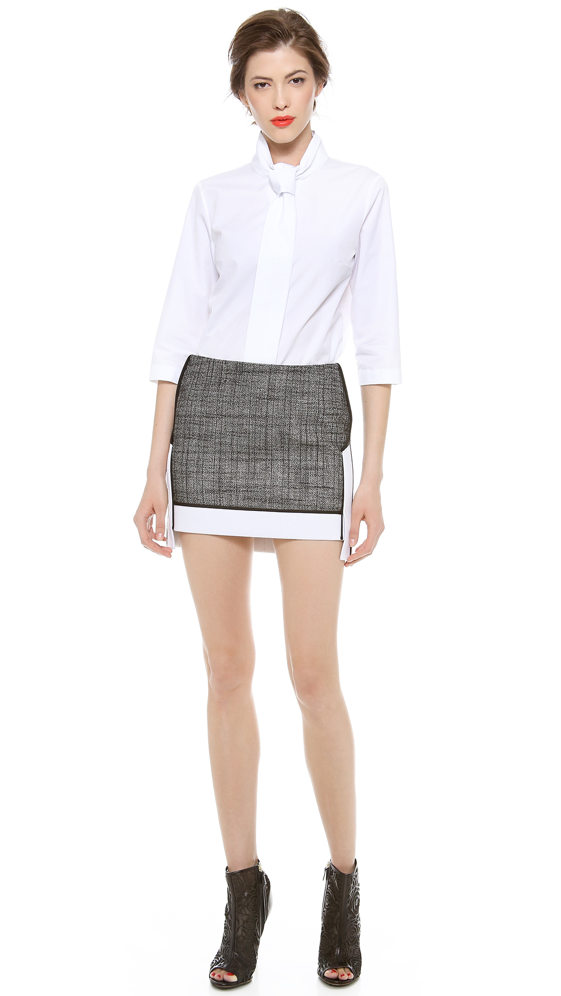 viktor rolf tie detail blouse in white lyst. Black Bedroom Furniture Sets. Home Design Ideas