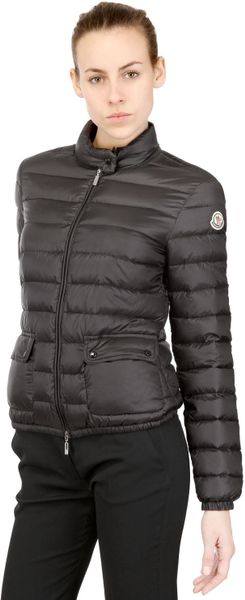 Moncler Lans Light Weight Quilted Nylon Jacket In Black