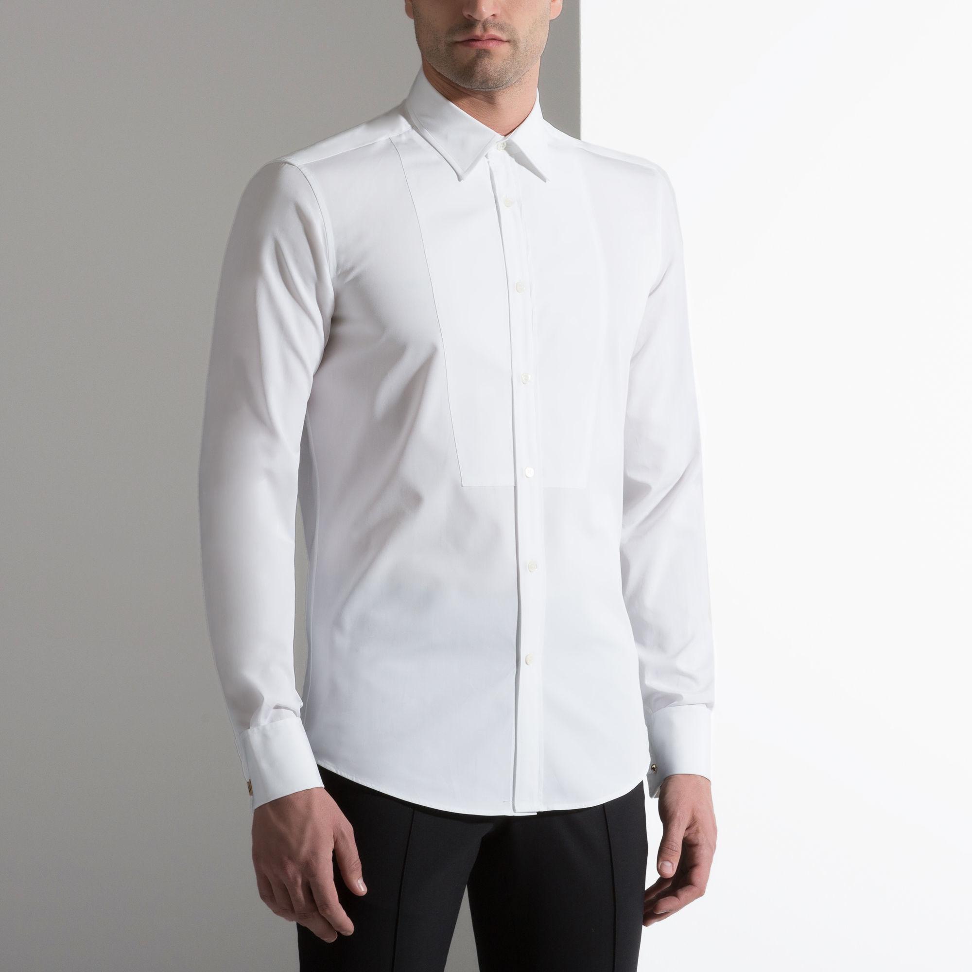 Lyst Bally Cotton Dress Shirt M5ba197f 7s111 In White