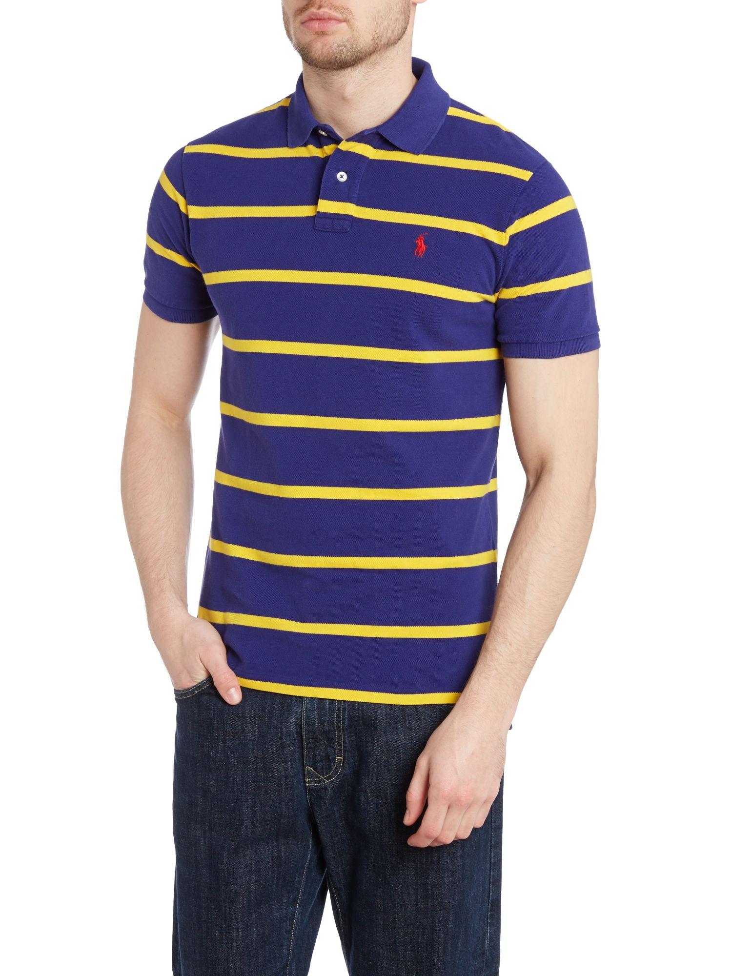 Polo Ralph Lauren Custom Fit Short Sleeve Stripe Polo