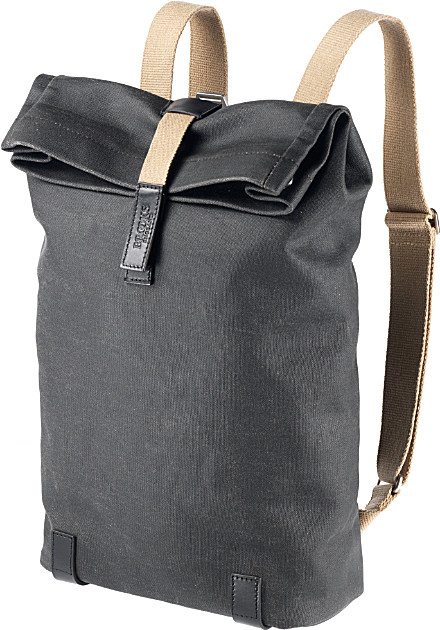 Brooks Pickwick Canvas Roll-top Backpack in Black for Men | Lyst