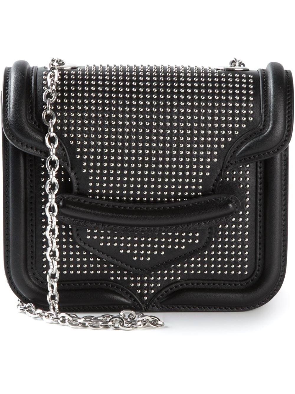 Alexander mcqueen Heroine Mini Studded Shoulder Bag in ...
