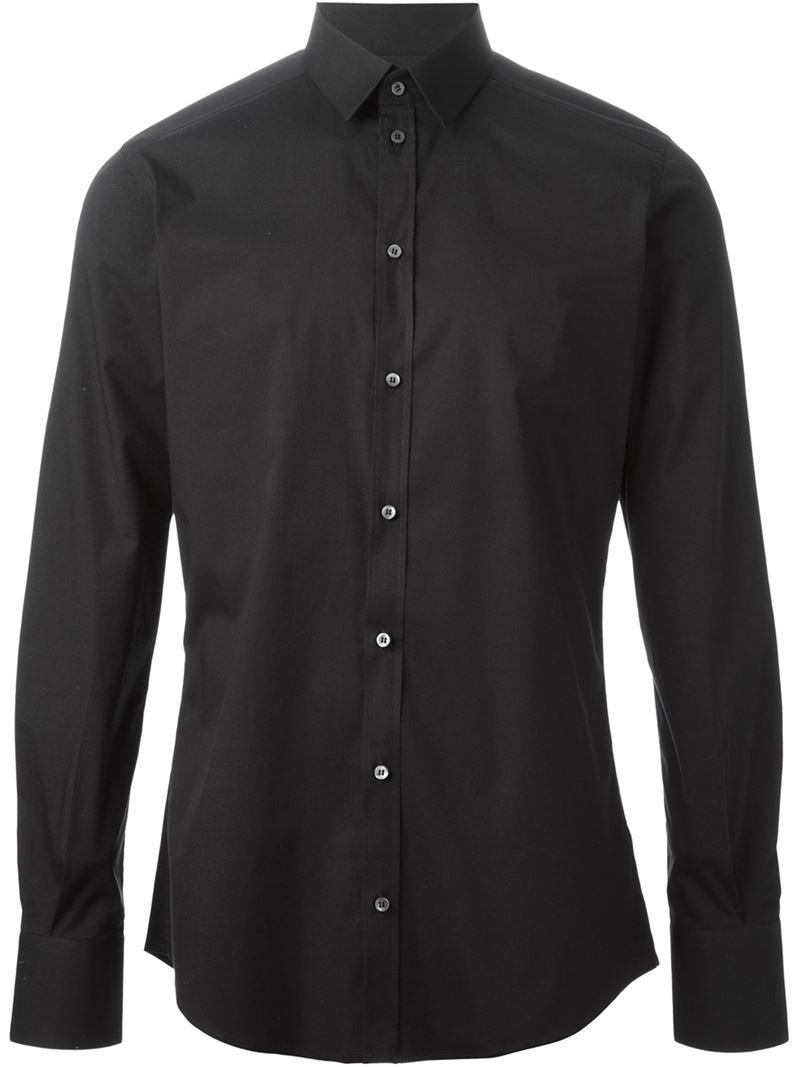 Lyst Dolce Gabbana Classic Shirt In Black For Men