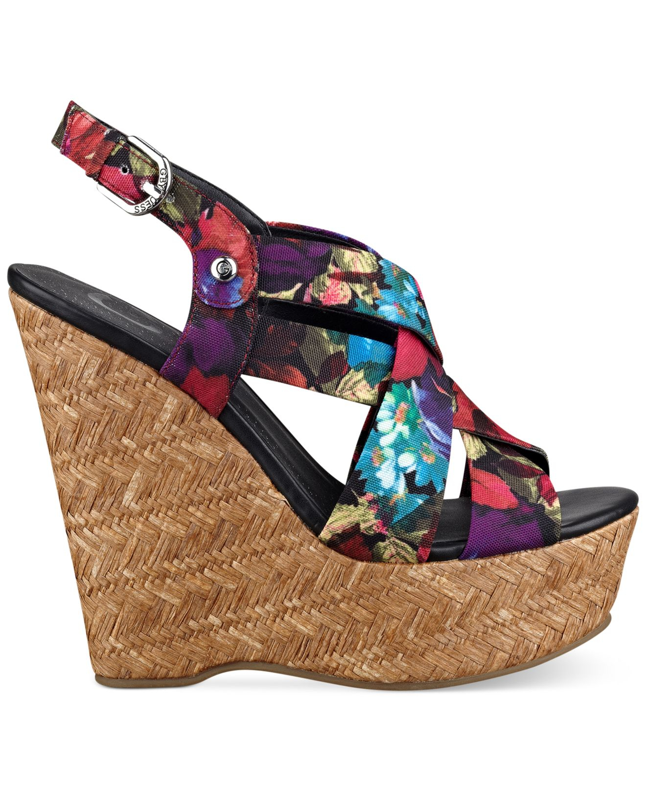 Lyst G By Guess Women S Havana Platform Wedge Sandals
