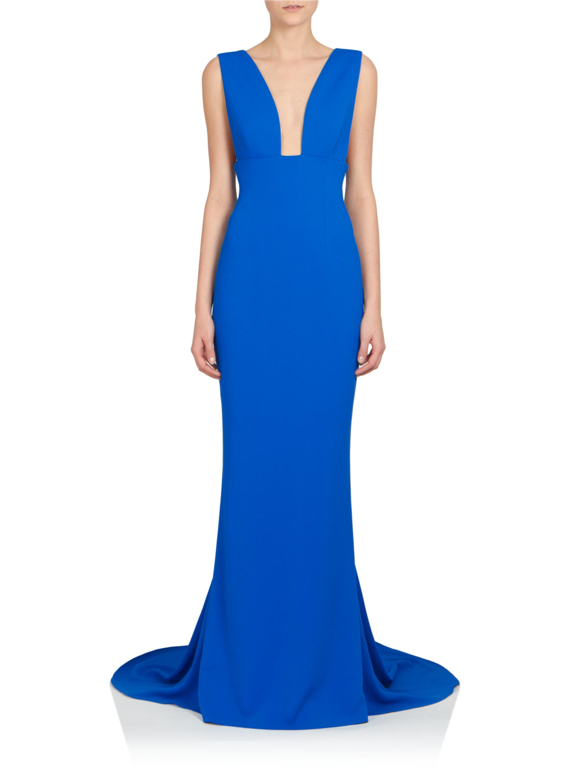 5afe8c9cdf5c Lyst - Stella McCartney Plunging V-neck Gown in Blue