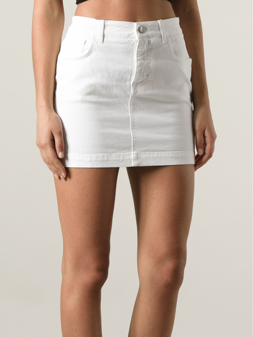 Dolce & gabbana Jeans Skirt in White | Lyst
