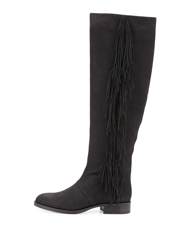 822ed2592ac57 Lyst - Sam Edelman Josephine Leather Fringe Boot in Black