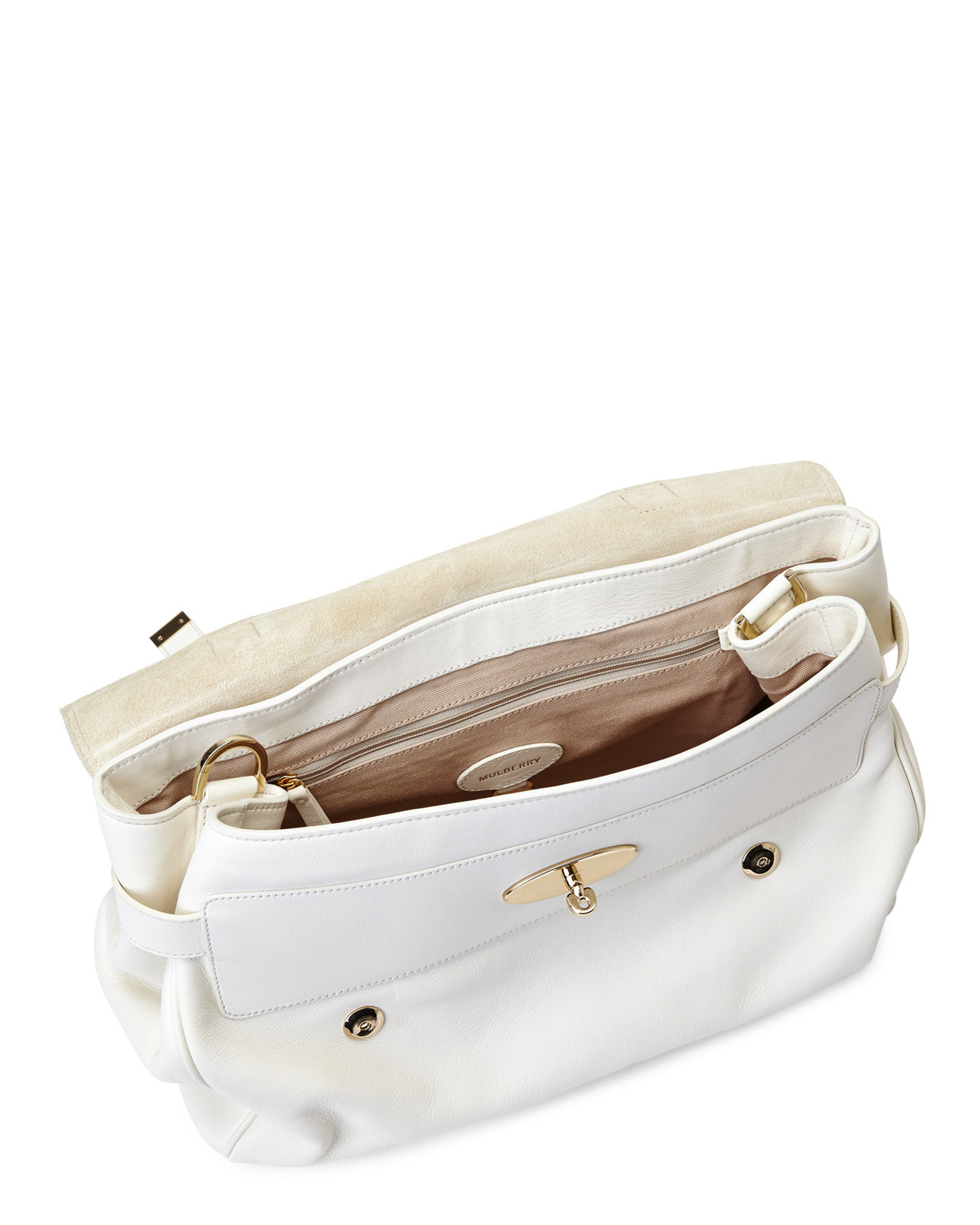 7fefb1ac8a6 ... cheapest lyst mulberry cream oversized alexa handbag in white a8566  a7f41 ...