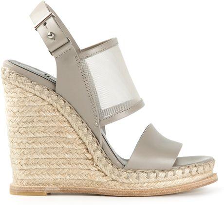 balenciaga wedge sandals in gray grey lyst