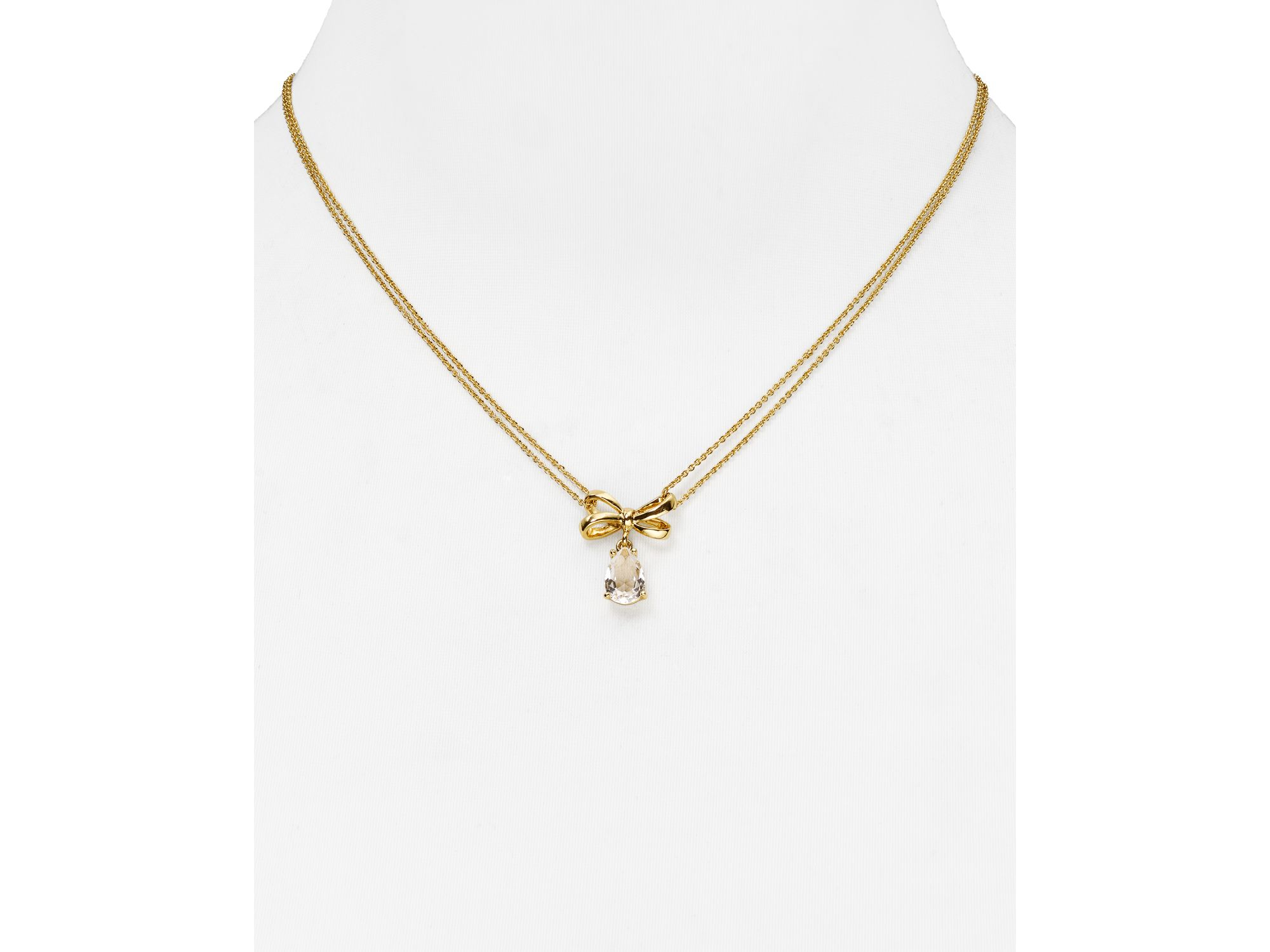 Lyst kate spade new york tied up drop pendant necklace 165 in gallery aloadofball Images
