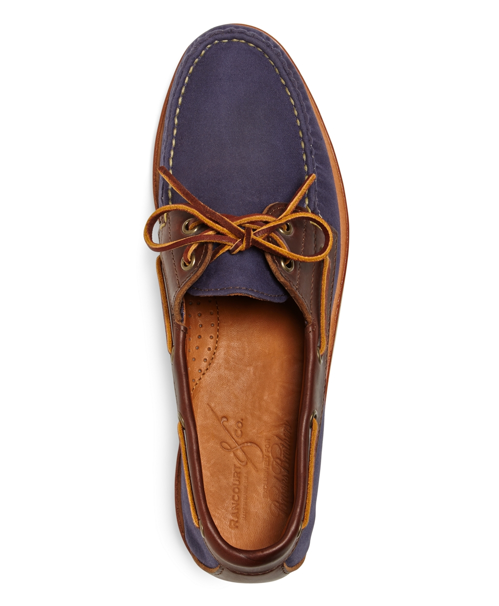 Rancourt Black Boat Shoes