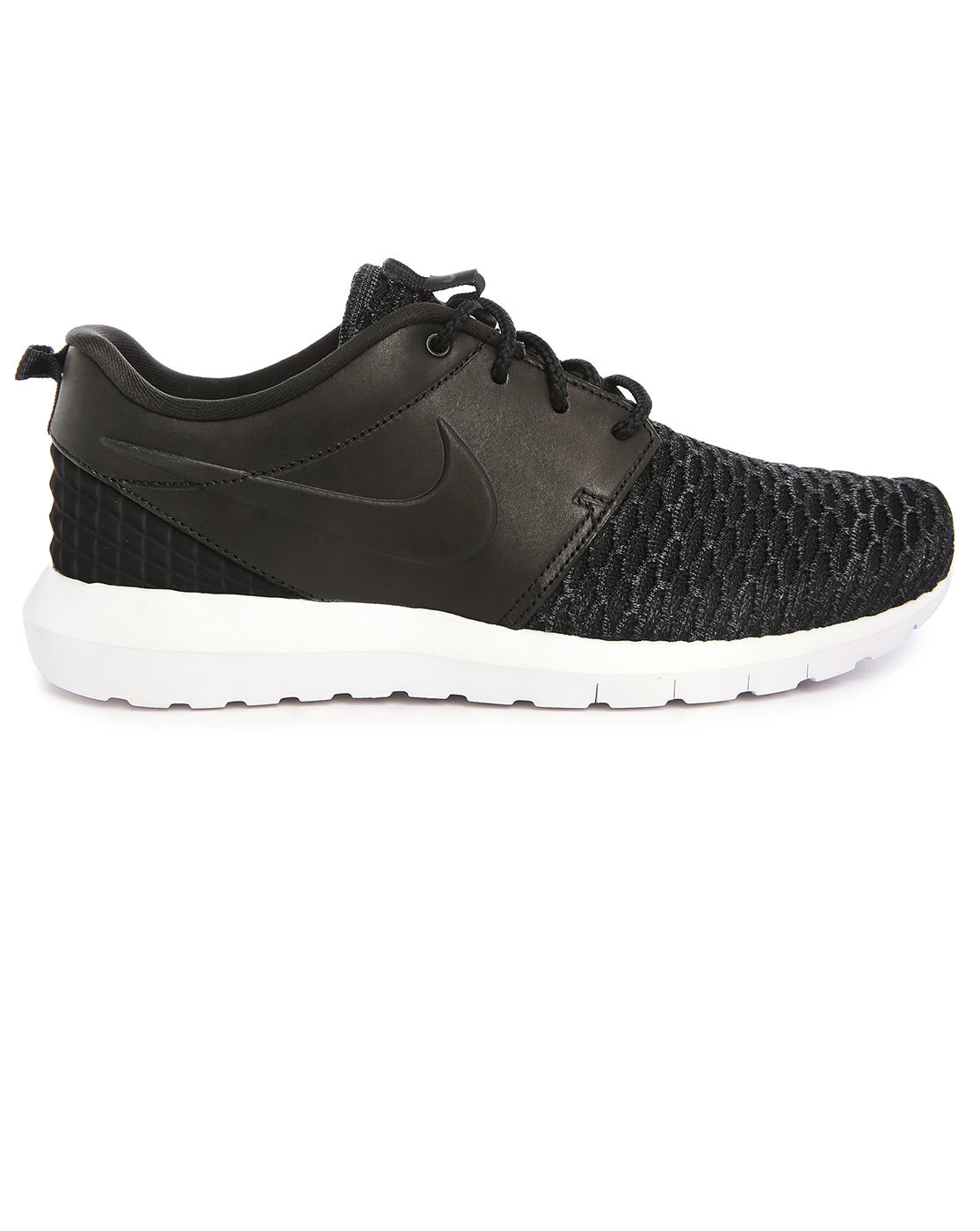 Nike Flyknit Roshe Run Qs Black Midnight Fog Black Pictures to pin on