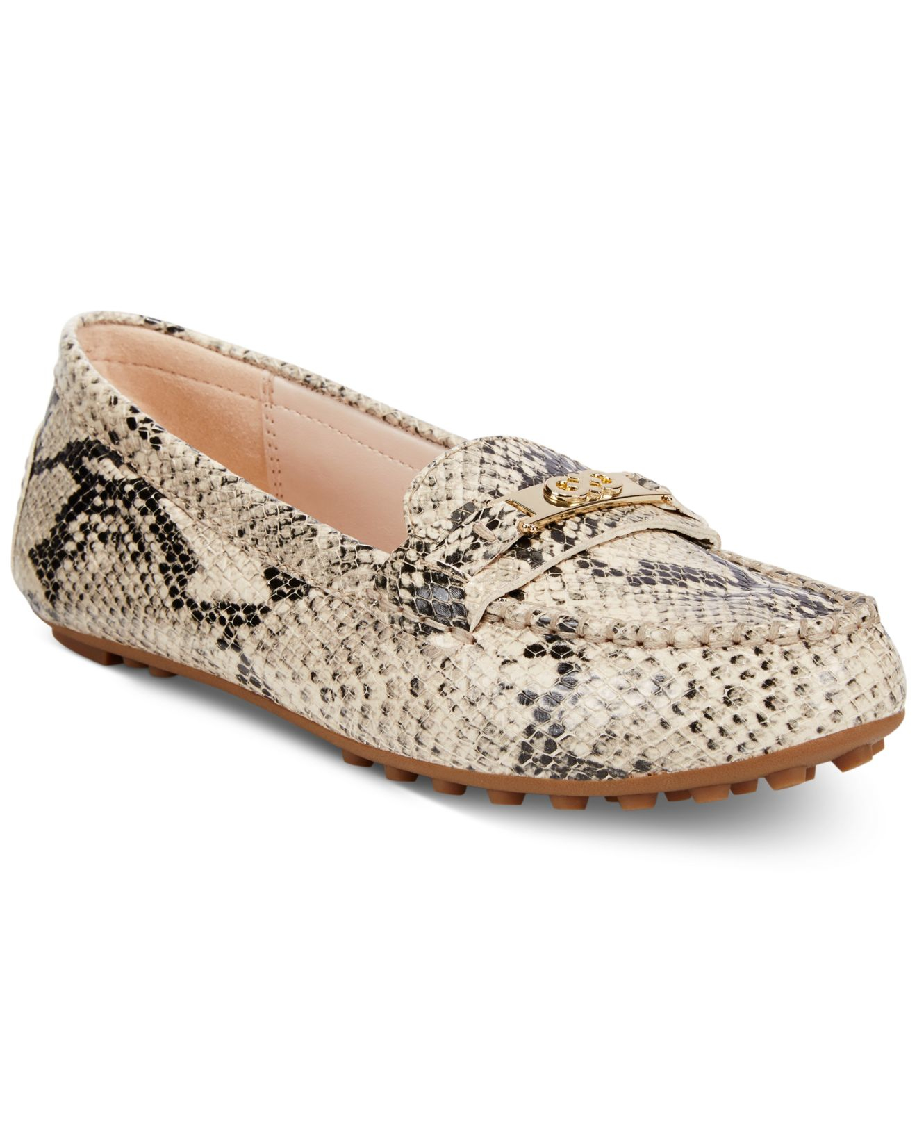 8f9f5ad620e Lyst - Cole Haan Women s Isabeli Driver Loafers in Natural
