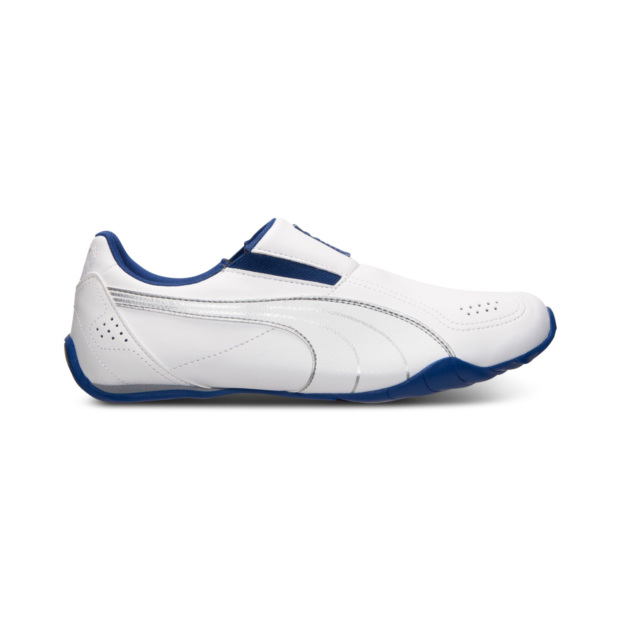 Mens White Leather Slip On Shoes Uk