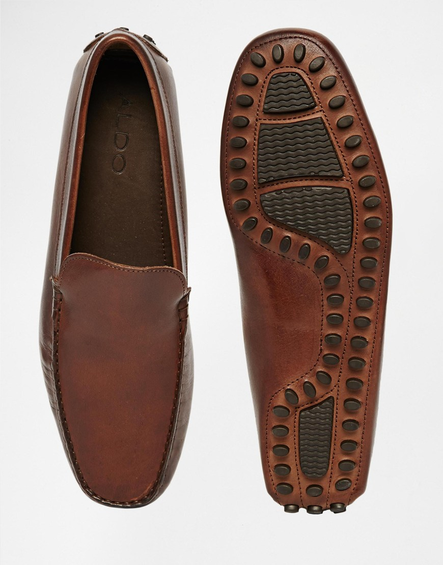 6e936d22fe1 Lyst - ALDO Brilicien Leather Driving Shoes in Brown for Men