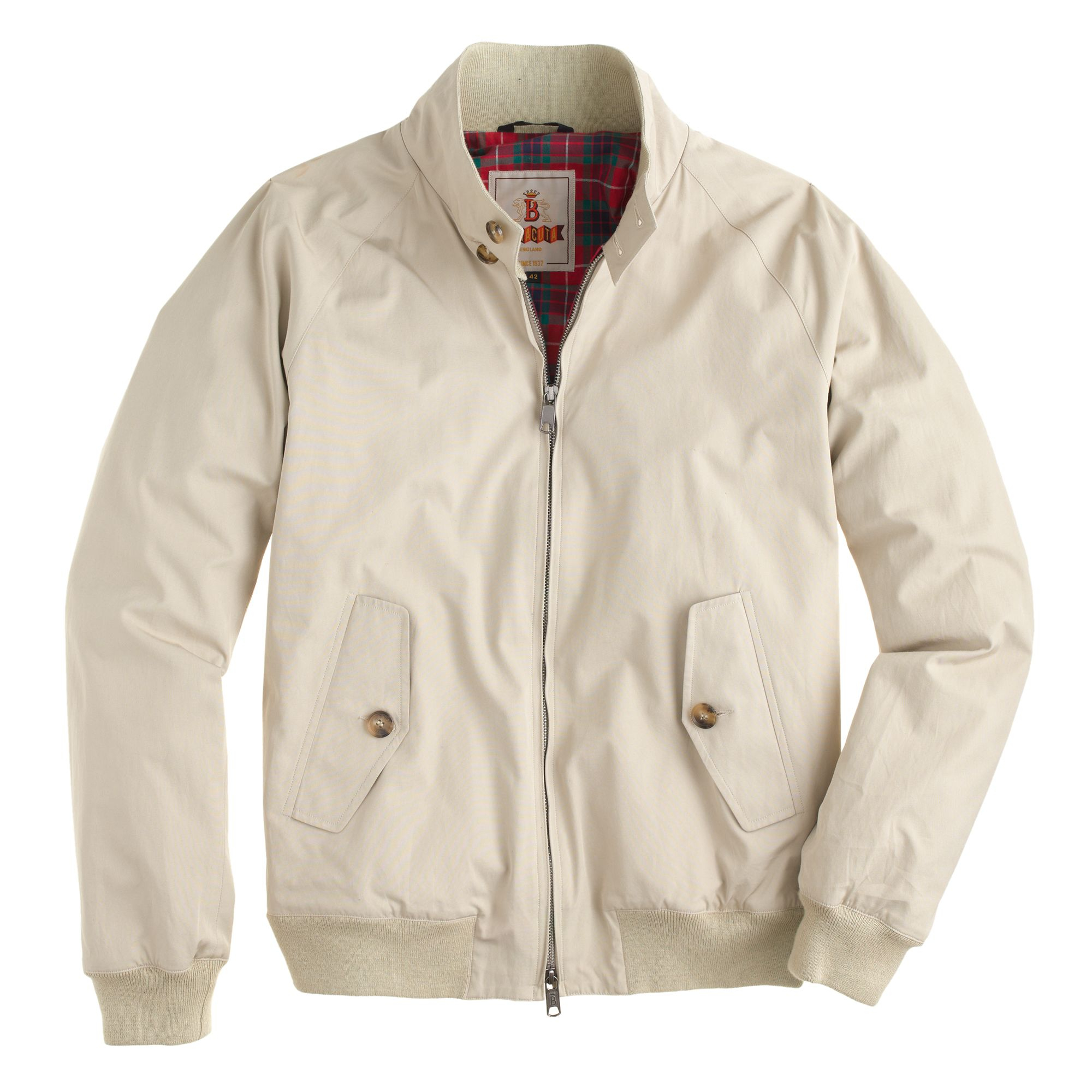 J Crew Baracuta G9 Harrington Jacket In Natural For Men Lyst