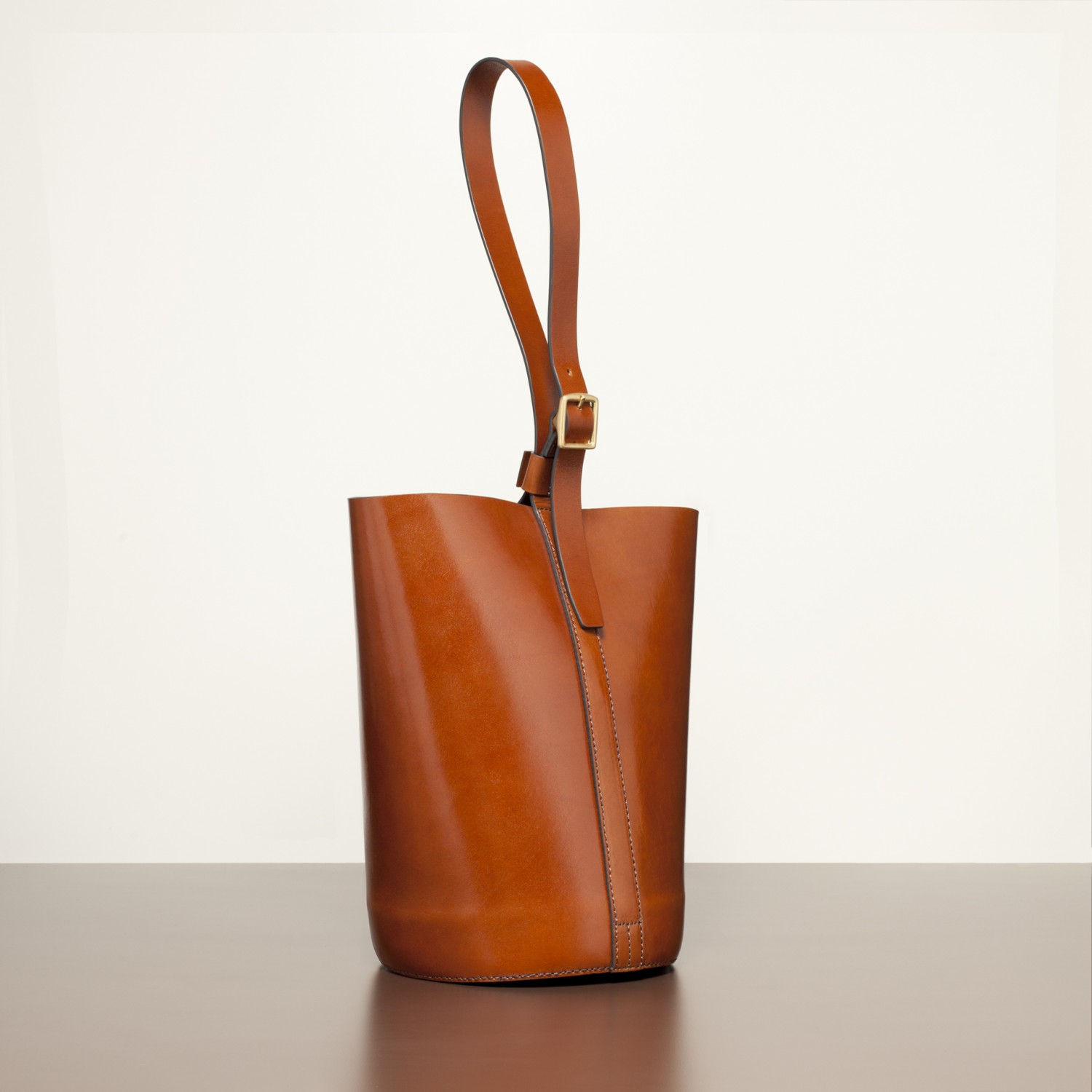 Trademark Leather Bucket Bag In Brown Lyst