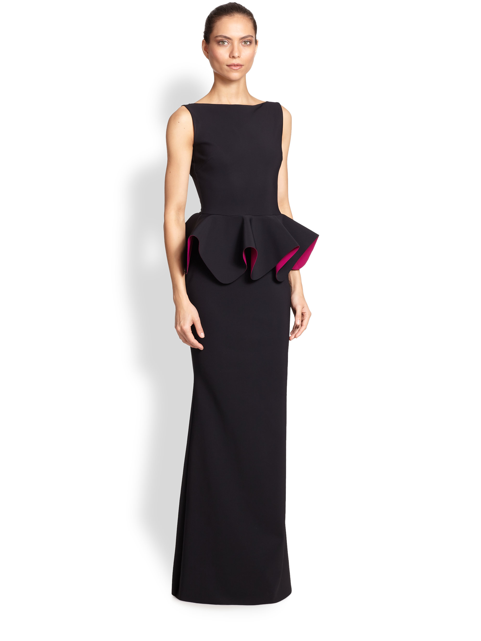 Chiara Boni The Most Popular Dress In America: La Petite Robe Di Chiara Boni Stretch Jersey Peplum Gown