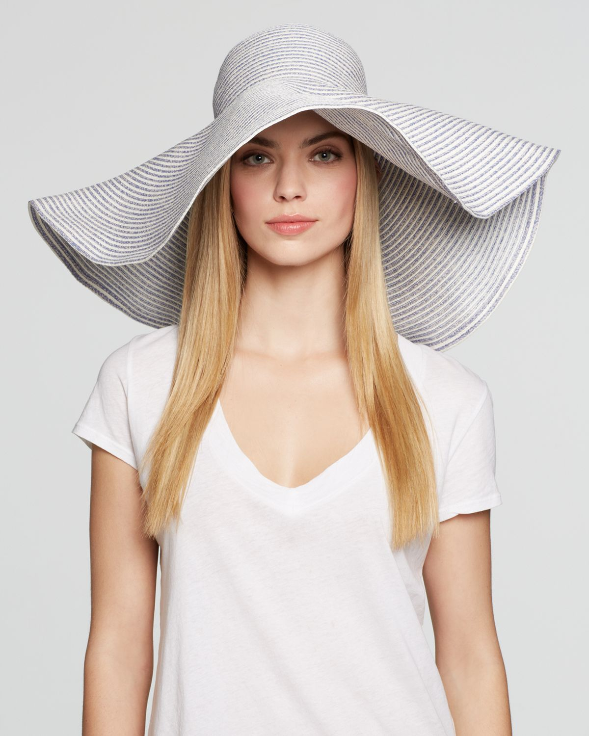 Lyst Aqua Extra Large Floppy Wired Brim Hat Bloomingdale S cd46f6a0200