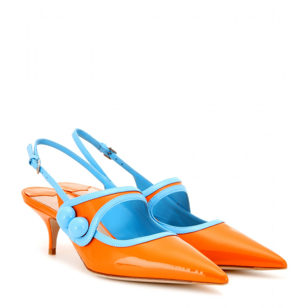 Orange Kitten Heels