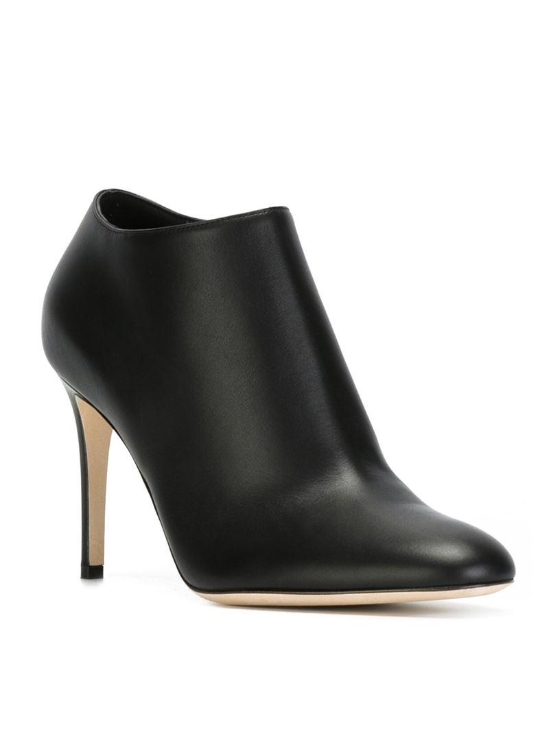 Lyst Sergio Rossi Stiletto Ankle Boots In Black