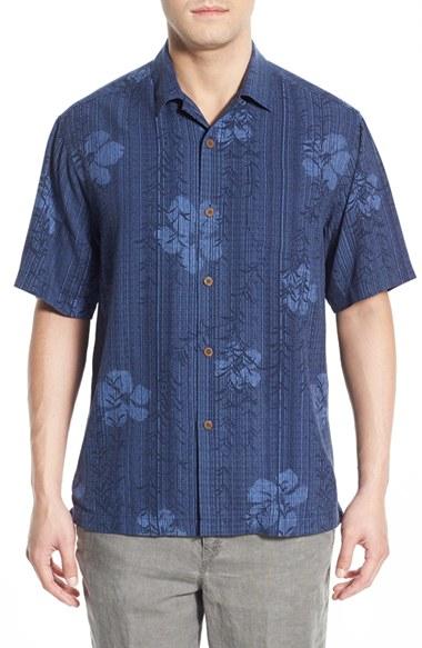 Lyst tommy bahama 39 island code 39 original fit short for Tommy bahama short sleeve silk camp shirt