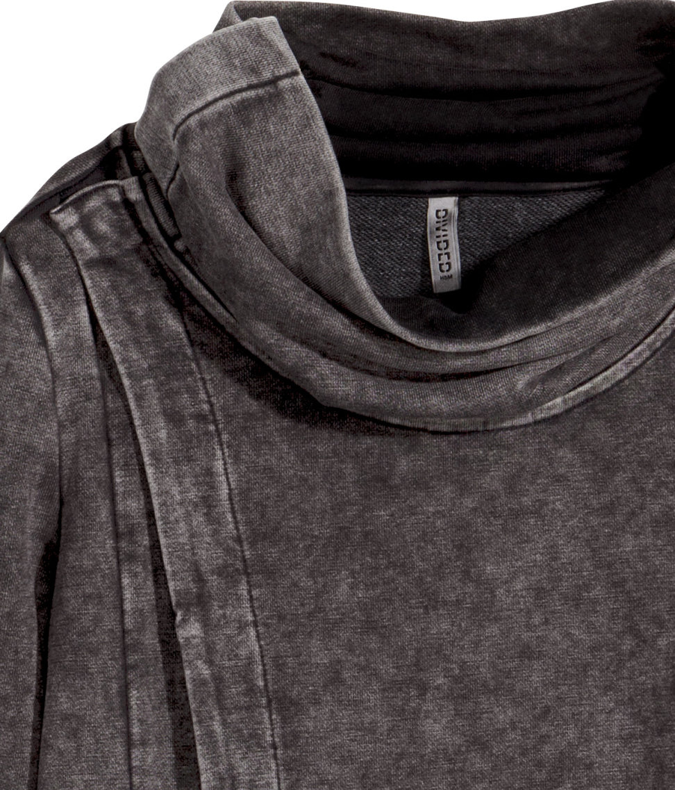 H&m Long Sweatshirt Cardigan in Gray | Lyst