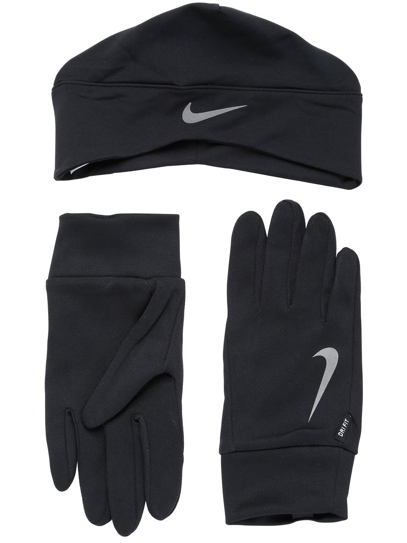 Nike Dri Fit Running Hat Amp Gloves Set In Black Lyst