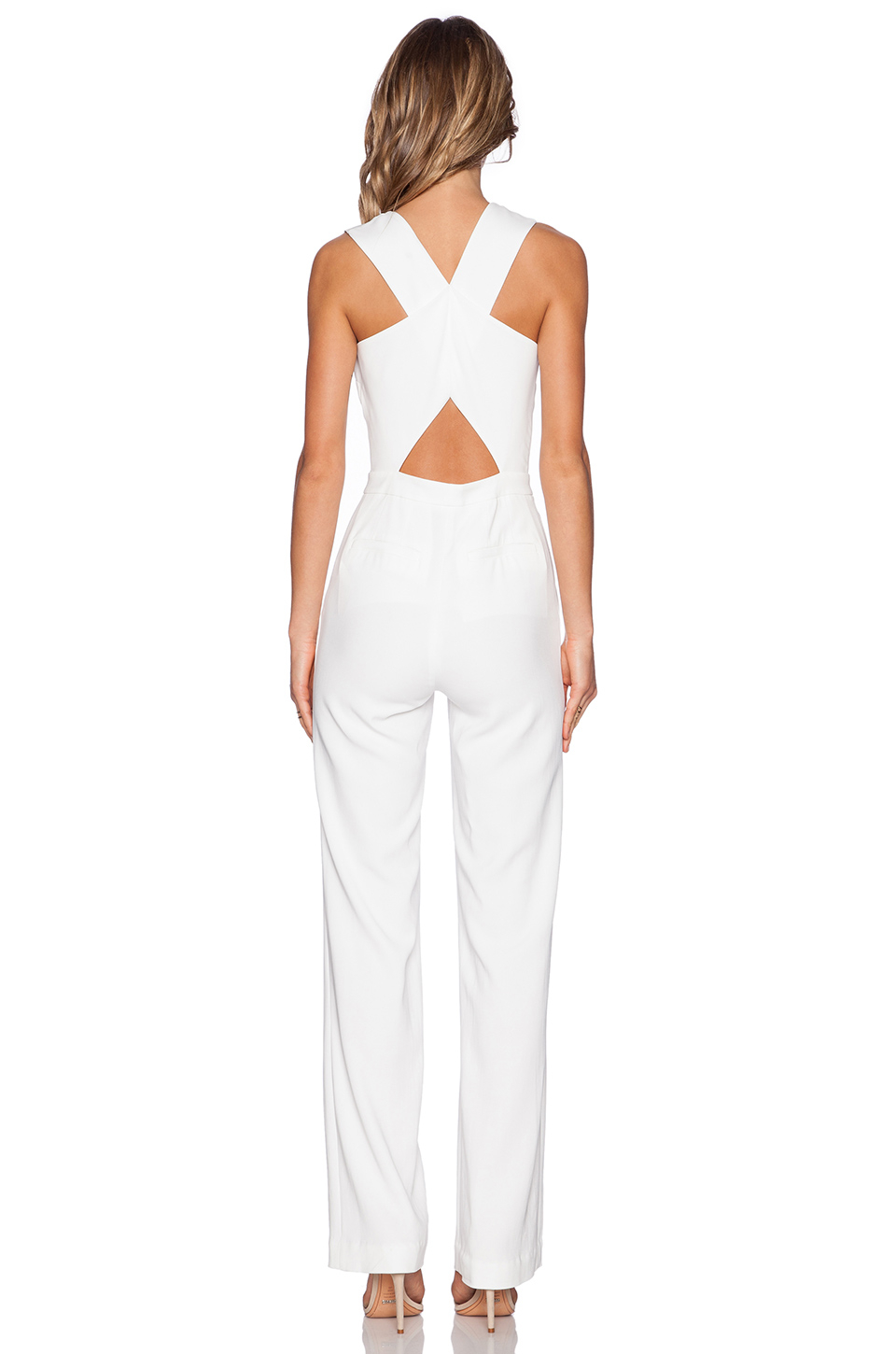 a4979be4142f Lyst - A.L.C. Luree Jumpsuit in White