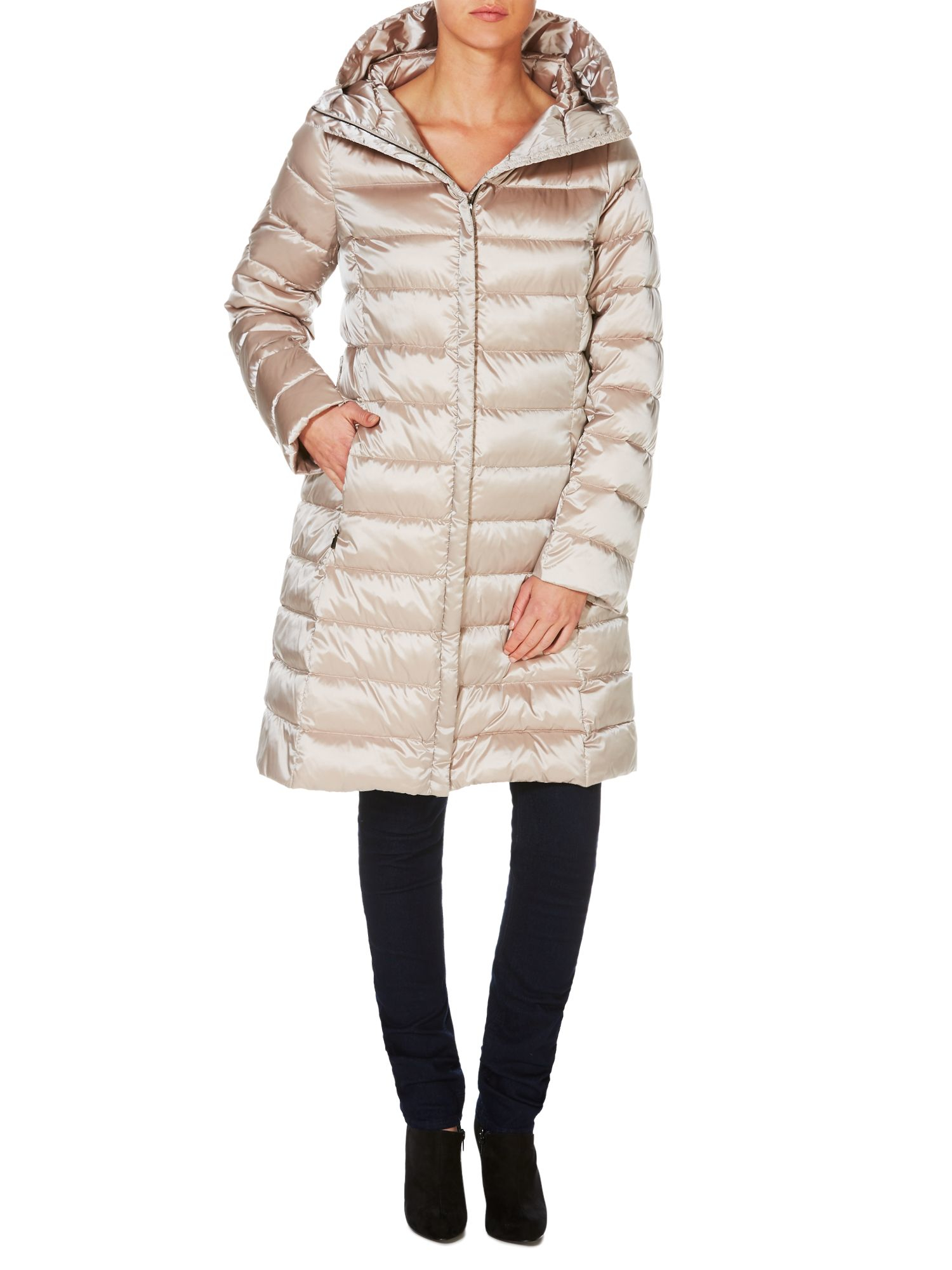 Lyst - Max mara Mogador Long Padded Coat With Removable Hood in ... : max mara quilted jacket - Adamdwight.com