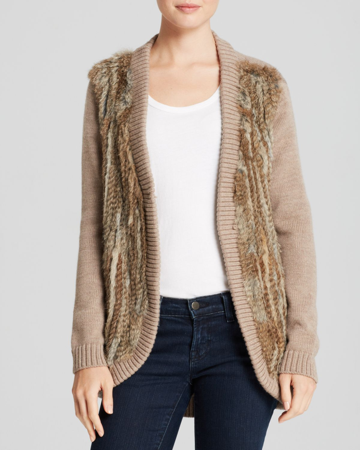 Joie Sweater Bloomingdales Exclusive Ellera Wool and Fur in Brown ...