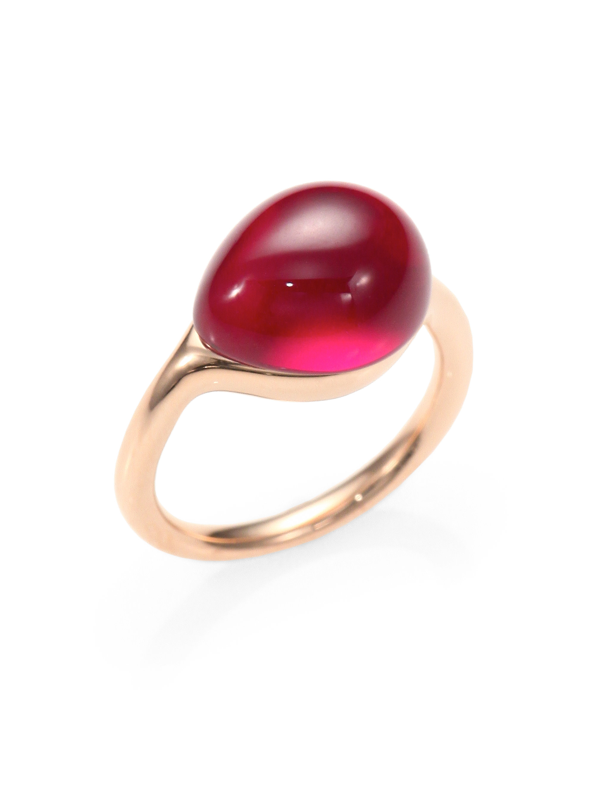 Lyst Pomellato Rouge Passion Cabochon Ring In Pink