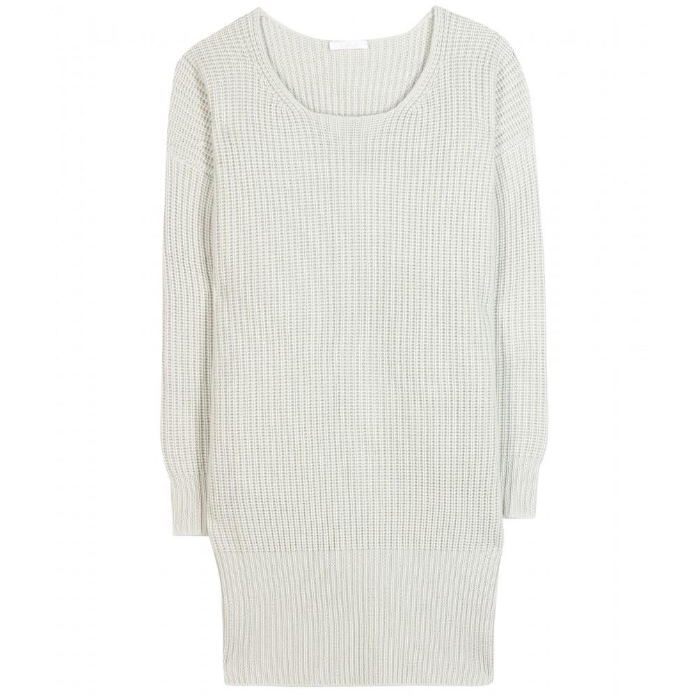 4ae54ddba0f Lyst - Chloé Cashmere Sweater Dress in Green