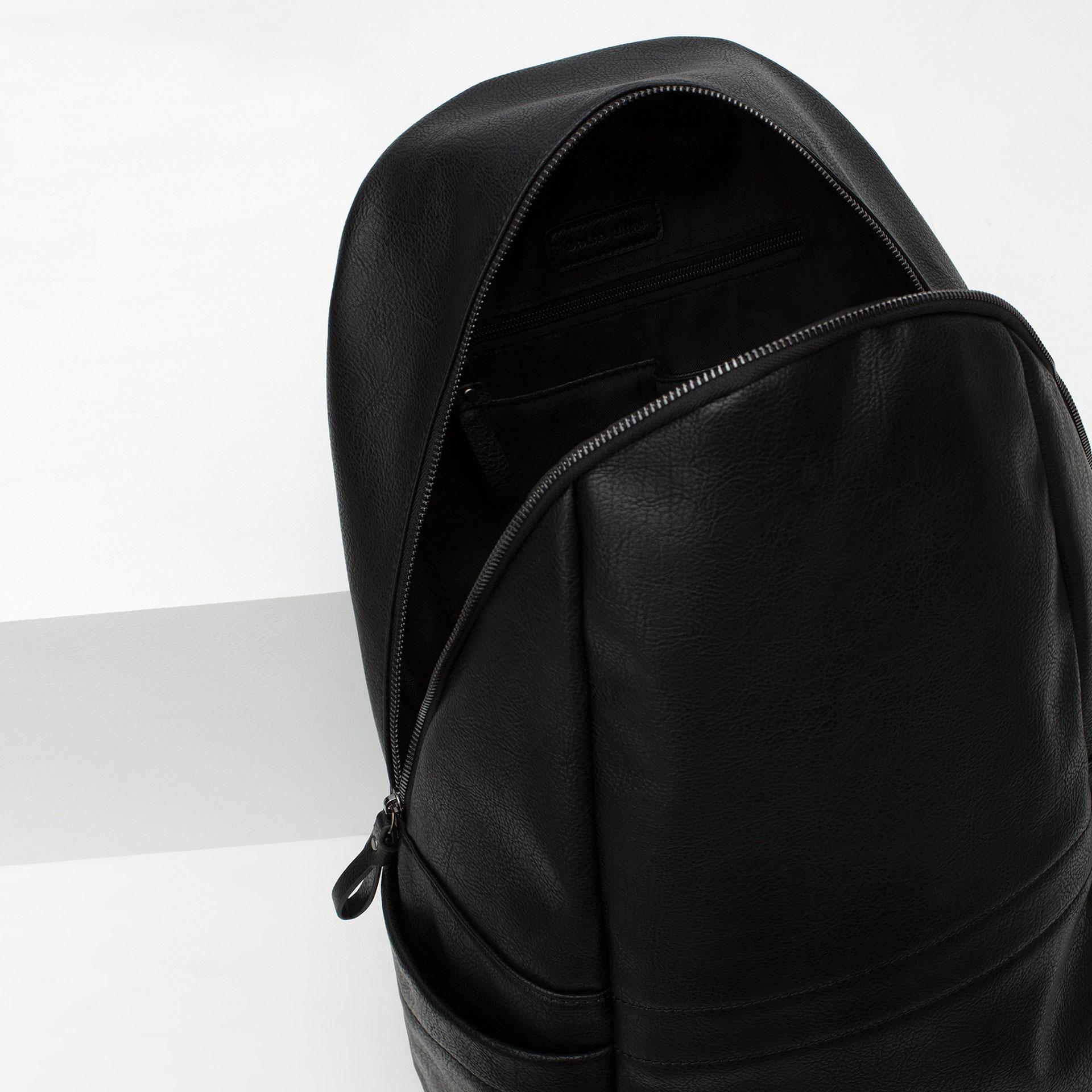 Zara Minimalist Backpack In Black For Men Lyst