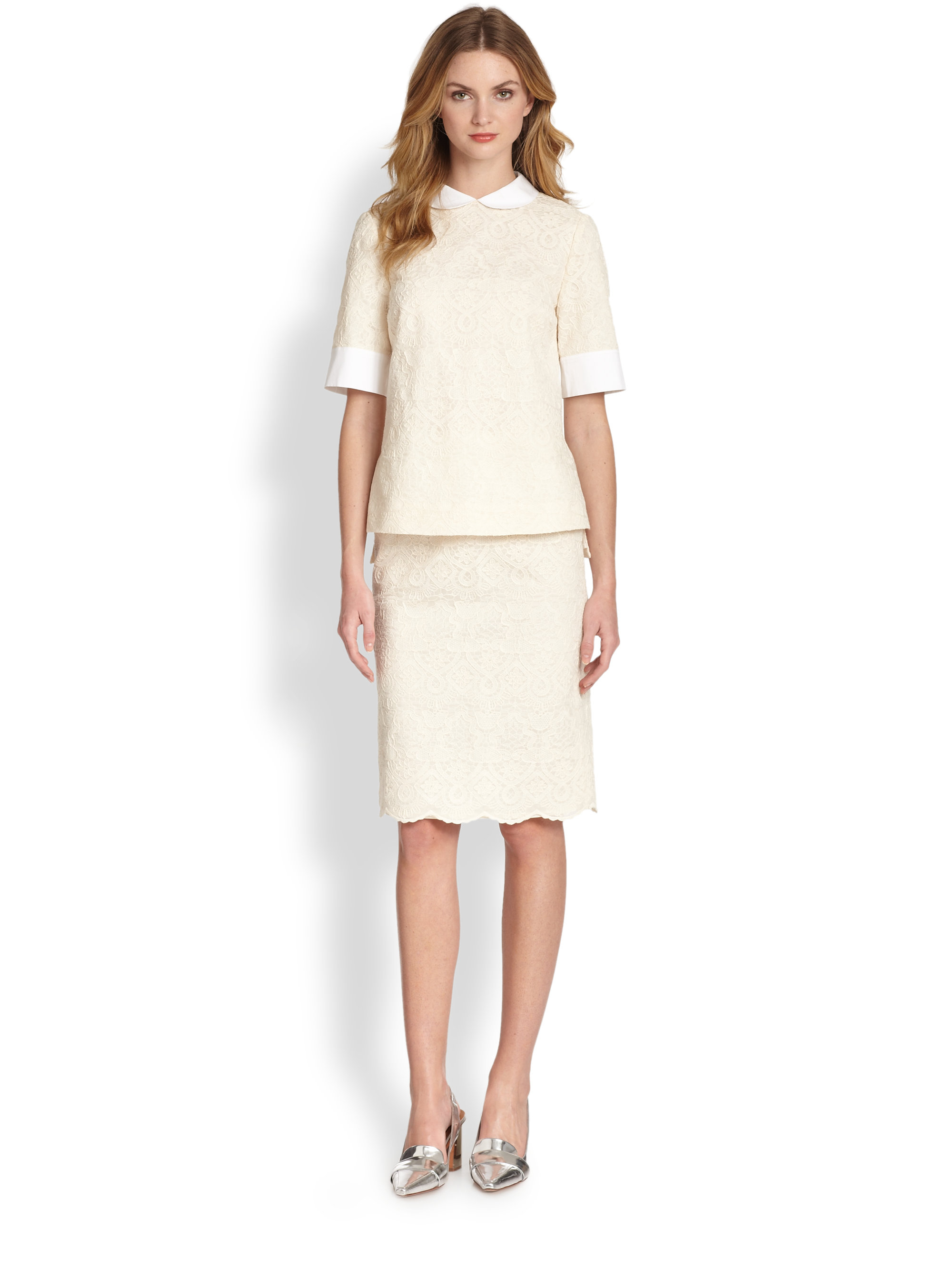 Floral Corded Lace Pencil Skirt. $ GIFT WITH PURCHASE. Burberry. Wilton Lace Pleated Midi Skirt. $1, NOW $ REDValentino. Point d'Esprit Long Skirt with Cutouts. $ NOW $ Next. Related Searches. Back Zip Sequin Skirt. Banded Pencil Skirt. Blue Spandex Pencil Skirt.