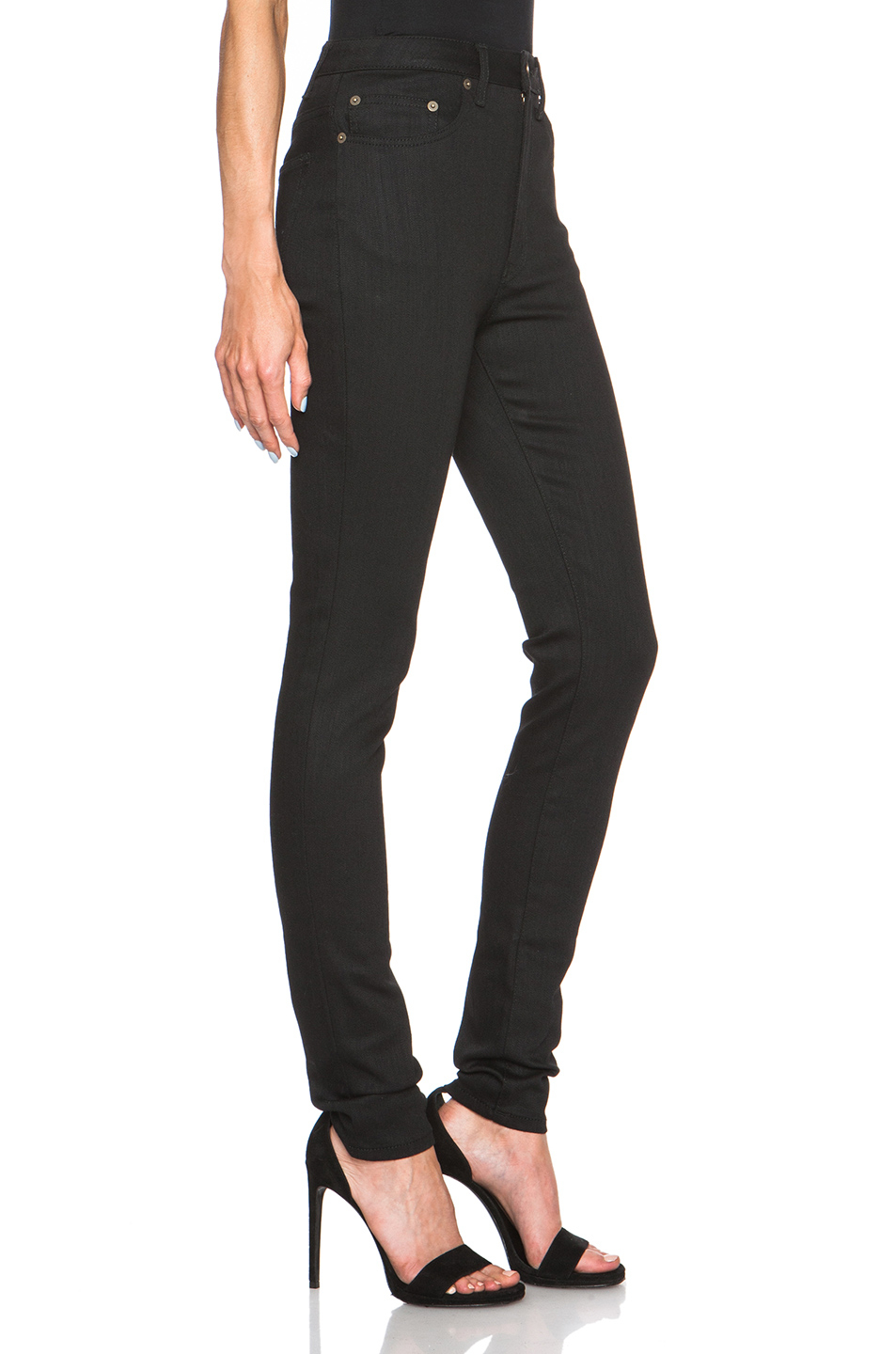 Black High-Waisted Skinny Jeans Saint Laurent