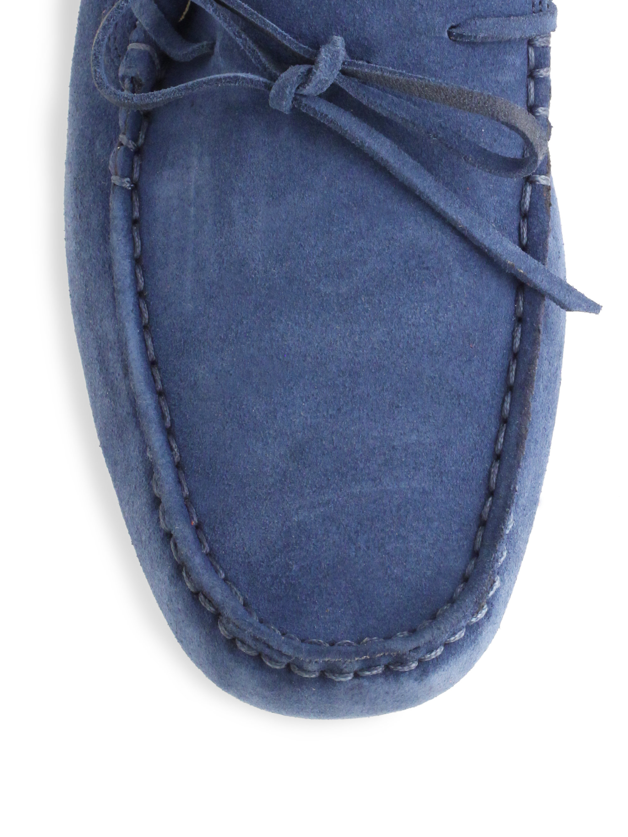 5f10c485e Lyst - Lacoste Concourse Suede Drivers in Blue for Men