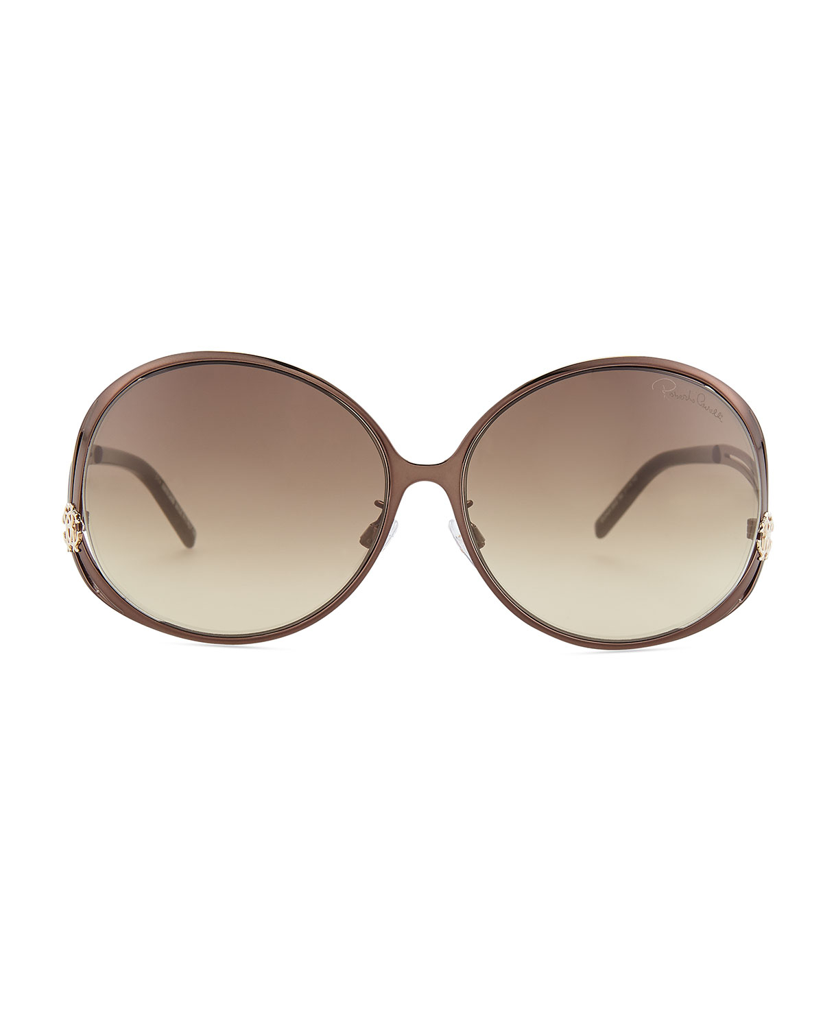 Roberto cavalli Round Metal Sunglasses in Brown