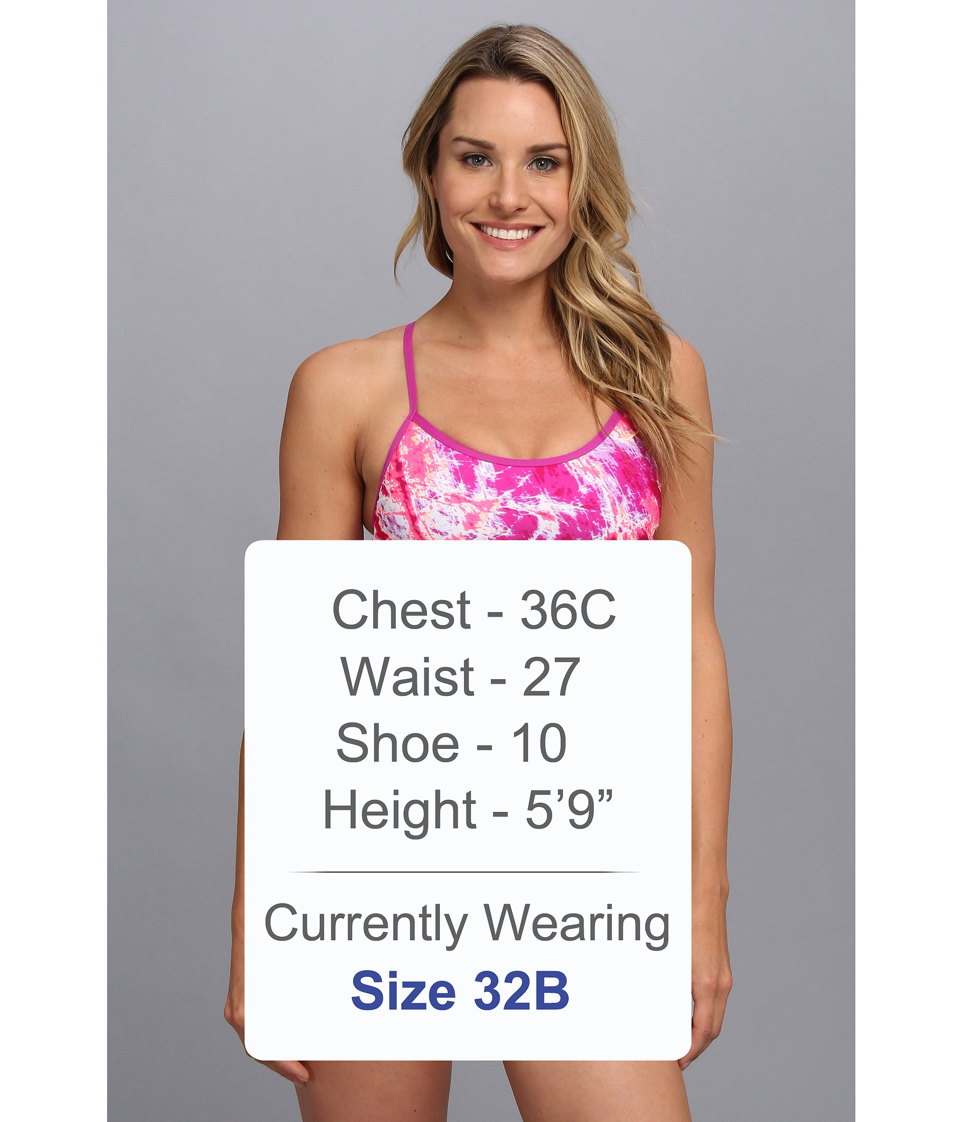 89d468eae4cc4 Lyst - Nike Adjustable Sport Top Two-Piece Swimsuit in Pink