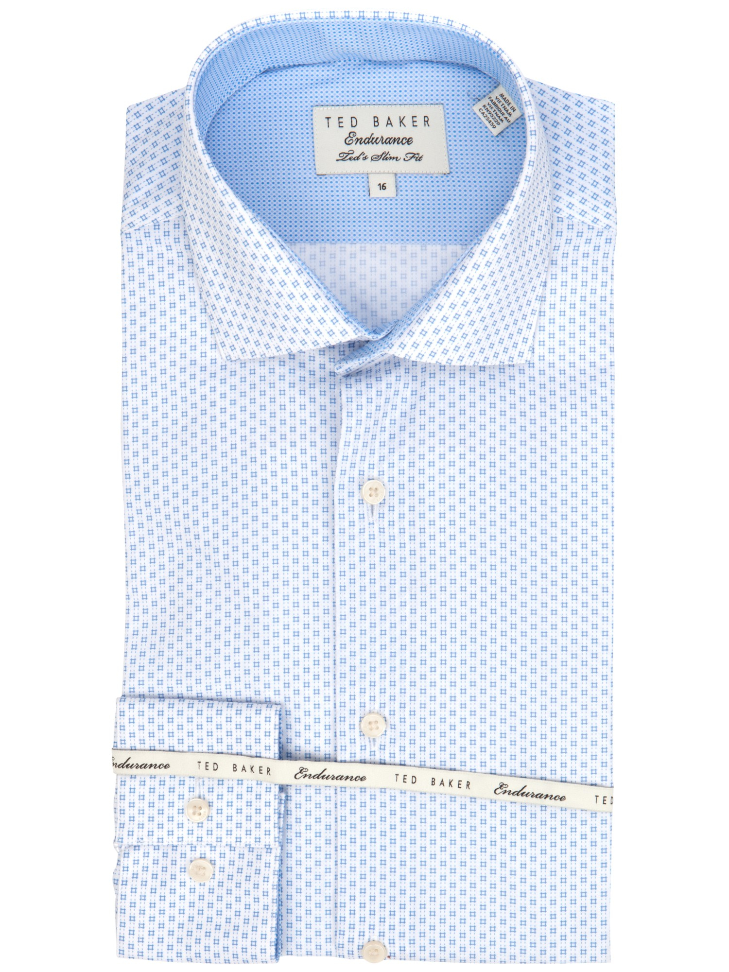 19a31128f5889 Ted Baker Endurance Slick Rick Geo Square Print Shirt in Blue for ...