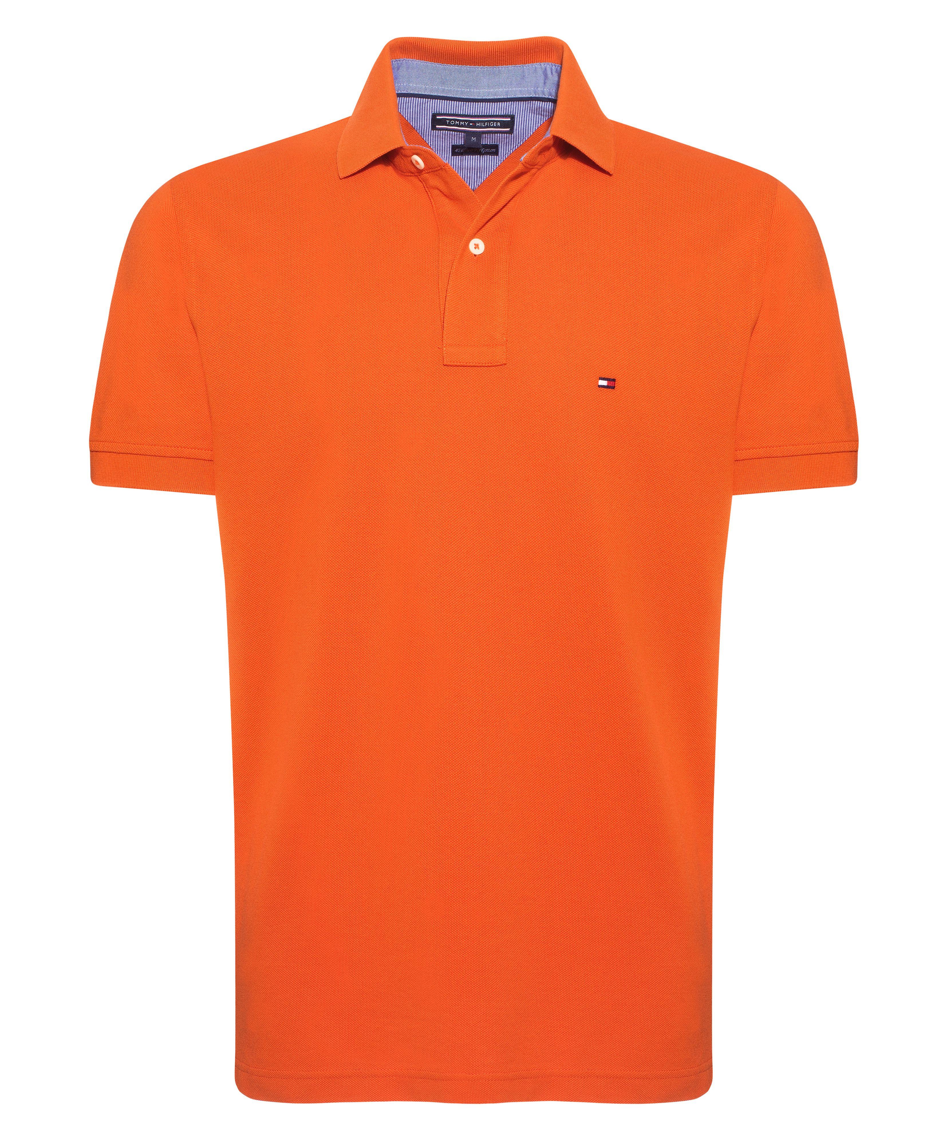 tommy hilfiger new tommy knit polo shirt in orange for men. Black Bedroom Furniture Sets. Home Design Ideas